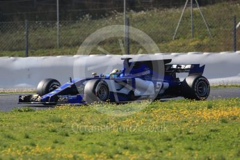 World © Octane Photographic Ltd. Formula 1 - Winter Test 1. Marcus Ericsson - Sauber F1 Team C36. Circuit de Barcelona-Catalunya. Monday 27th February 2017. Digital Ref :1780CB1D6702