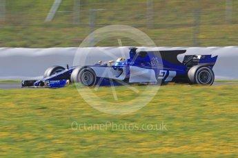 World © Octane Photographic Ltd. Formula 1 - Winter Test 1. Marcus Ericsson - Sauber F1 Team C36. Circuit de Barcelona-Catalunya. Monday 27th February 2017. Digital Ref :1780CB1D6773