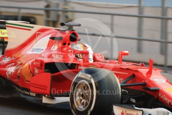 World © Octane Photographic Ltd. Formula 1 - Winter Test 1. Sebastian Vettel - Scuderia Ferrari SF70H. Circuit de Barcelona-Catalunya. Monday 27th February 2017. Digital Ref : 1780LB1D8230