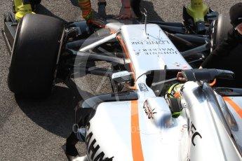 World © Octane Photographic Ltd. Formula 1 - Winter Test 1. Sergio Perez - Sahara Force India VJM10. Circuit de Barcelona-Catalunya. Monday 27th February 2017. Digital Ref : 1780LB1D8374