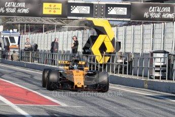 World © Octane Photographic Ltd. Formula 1 - Winter Test 1. Nico Hulkenberg - Renault Sport F1 Team R.S.17. Circuit de Barcelona-Catalunya. Monday 27th February 2017. Digital Ref : 1780LB1D8403