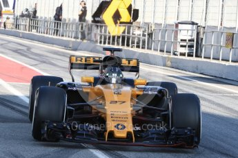 World © Octane Photographic Ltd. Formula 1 - Winter Test 1. Nico Hulkenberg - Renault Sport F1 Team R.S.17. Circuit de Barcelona-Catalunya. Monday 27th February 2017. Digital Ref : 1780LB1D8410