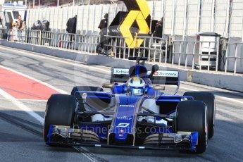World © Octane Photographic Ltd. Formula 1 - Winter Test 1. Marcus Ericsson - Sauber F1 Team C36. Circuit de Barcelona-Catalunya. Monday 27th February 2017. Digital Ref : 1780LB1D8437