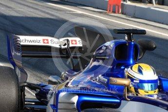 World © Octane Photographic Ltd. Formula 1 - Winter Test 1. Marcus Ericsson - Sauber F1 Team C36. Circuit de Barcelona-Catalunya. Monday 27th February 2017. Digital Ref : 1780LB1D8465