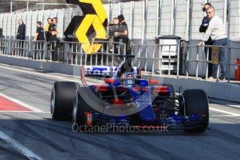 World © Octane Photographic Ltd. Formula 1 - Winter Test 1. Carlos Sainz - Scuderia Toro Rosso STR12. Circuit de Barcelona-Catalunya. Monday 27th February 2017. Digital Ref : 1780LB1D8486