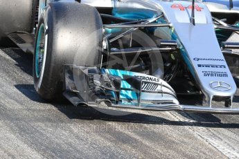 World © Octane Photographic Ltd. Formula 1 - Winter Test 1. Lewis Hamilton - Mercedes AMG Petronas F1 W08 EQ Energy+. Circuit de Barcelona-Catalunya. Monday 27th February 2017. Digital Ref : 1780LB1D8548