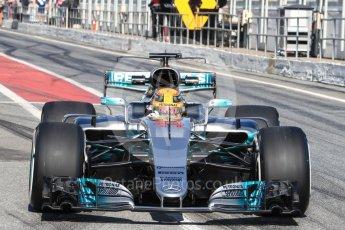 World © Octane Photographic Ltd. Formula 1 - Winter Test 1. Lewis Hamilton - Mercedes AMG Petronas F1 W08 EQ Energy+. Circuit de Barcelona-Catalunya. Monday 27th February 2017. Digital Ref : 1780LB1D8652