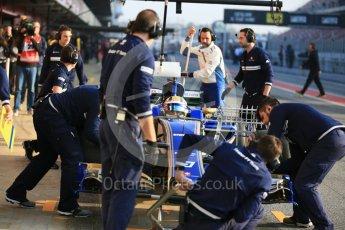 World © Octane Photographic Ltd. Formula 1 - Winter Test 1. Marcus Ericsson - Sauber F1 Team C36. Circuit de Barcelona-Catalunya. Monday 27th February 2017. Digital Ref : 1780LB5D7575