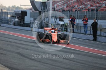 World © Octane Photographic Ltd. Formula 1 - Winter Test 1. Fernando Alonso - McLaren Honda MCL32. Circuit de Barcelona-Catalunya. Monday 27th February 2017. Digital Ref : 1780LB5D7609