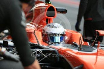 World © Octane Photographic Ltd. Formula 1 - Winter Test 1. Fernando Alonso - McLaren Honda MCL32. Circuit de Barcelona-Catalunya. Monday 27th February 2017. Digital Ref : 1780LB5D7629