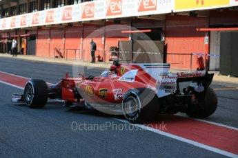 World © Octane Photographic Ltd. Formula 1 - Winter Test 1. Sebastian Vettel - Scuderia Ferrari SF70H. Circuit de Barcelona-Catalunya. Monday 27th February 2017. Digital Ref : 1780LB5D7699