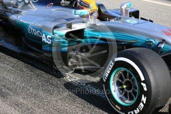 World © Octane Photographic Ltd. Formula 1 - Winter Test 1. Lewis Hamilton - Mercedes AMG Petronas F1 W08 EQ Energy+. Circuit de Barcelona-Catalunya. Monday 27th February 2017. Digital Ref : 1780LB5D7923