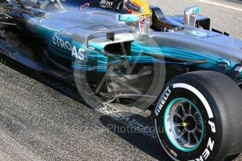 World © Octane Photographic Ltd. Formula 1 - Winter Test 1. Lewis Hamilton - Mercedes AMG Petronas F1 W08 EQ Energy+. Circuit de Barcelona-Catalunya. Monday 27th February 2017. Digital Ref : 1780LB5D7943