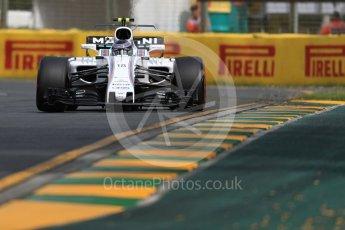World © Octane Photographic Ltd. Formula 1 - Australian Grand Prix - Practice 1. Lance Stroll - Williams Martini Racing FW40. Albert Park Circuit. Friday 24th March 2017. Digital Ref: 1793LB1D1092