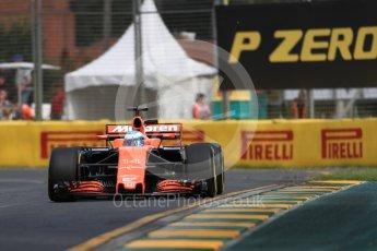 World © Octane Photographic Ltd. Formula 1 - Australian Grand Prix - Practice 1. Fernando Alonso - McLaren Honda MCL32. Albert Park Circuit. Friday 24th March 2017. Digital Ref: 1793LB1D1359