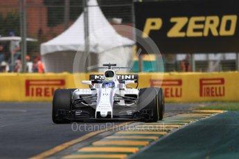 World © Octane Photographic Ltd. Formula 1 - Australian Grand Prix - Practice 1. Felipe Massa - Williams Martini Racing FW40. Albert Park Circuit. Friday 24th March 2017. Digital Ref: 1793LB1D1374