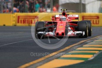 World © Octane Photographic Ltd. Formula 1 - Australian Grand Prix - Practice 1. Kimi Raikkonen - Scuderia Ferrari SF70H. Albert Park Circuit. Friday 24th March 2017. Digital Ref: 1793LB1D1391