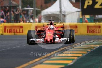 World © Octane Photographic Ltd. Formula 1 - Australian Grand Prix - Practice 1. Sebastian Vettel - Scuderia Ferrari SF70H. Albert Park Circuit. Friday 24th March 2017. Digital Ref: 1793LB1D1414