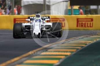 World © Octane Photographic Ltd. Formula 1 - Australian Grand Prix - Practice 1. Felipe Massa - Williams Martini Racing FW40. Albert Park Circuit. Friday 24th March 2017. Digital Ref: 1793LB1D1477