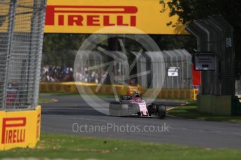 World © Octane Photographic Ltd. Formula 1 - Australian Grand Prix - Practice 1. Esteban Ocon - Sahara Force India VJM10. Albert Park Circuit. Friday 24th March 2017. Digital Ref: 1793LB1D1729
