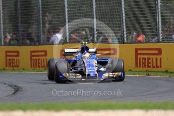 World © Octane Photographic Ltd. Formula 1 - Australian Grand Prix - Practice 1. Pascal Wehrlein – Sauber F1 Team C36. Albert Park Circuit. Friday 24th March 2017. Digital Ref: 1793LB1D1771