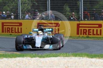 World © Octane Photographic Ltd. Formula 1 - Australian Grand Prix - Practice 1. Lewis Hamilton - Mercedes AMG Petronas F1 W08 EQ Energy+. Albert Park Circuit. Friday 24th March 2017. Digital Ref: 1793LB1D1899
