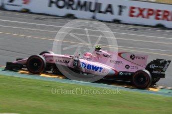 World © Octane Photographic Ltd. Formula 1 - Australian Grand Prix - Practice 1. Esteban Ocon - Sahara Force India VJM10. Albert Park Circuit. Friday 24th March 2017. Digital Ref: 1793LB1D2001
