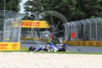 World © Octane Photographic Ltd. Formula 1 - Australian Grand Prix - Practice 1. Pascal Wehrlein – Sauber F1 Team C36. Albert Park Circuit. Friday 24th March 2017. Digital Ref: 1793LB2D4137