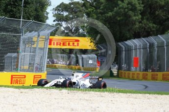World © Octane Photographic Ltd. Formula 1 - Australian Grand Prix - Practice 1. Lance Stroll - Williams Martini Racing FW40. Albert Park Circuit. Friday 24th March 2017. Digital Ref: 1793LB2D4145