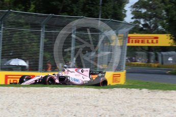 World © Octane Photographic Ltd. Formula 1 - Australian Grand Prix - Practice 1. Sergio Perez - Sahara Force India VJM10. Albert Park Circuit. Friday 24th March 2017. Digital Ref: 1793LB2D4179