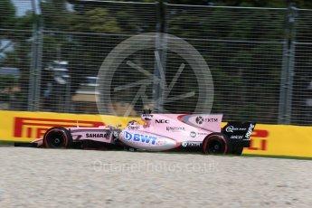 World © Octane Photographic Ltd. Formula 1 - Australian Grand Prix - Practice 1. Sergio Perez - Sahara Force India VJM10. Albert Park Circuit. Friday 24th March 2017. Digital Ref: 1793LB2D4187