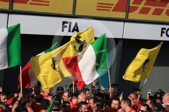 World © Octane Photographic Ltd. Formula 1 - Australian Grand Prix - Podium. Sebastian Vettel - Scuderia Ferrari team. Albert Park Circuit. Sunday 26th March 2017. Digital Ref: 1803LB1D6933