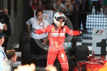 World © Octane Photographic Ltd. Formula 1 - Australian Grand Prix - Podium. Sebastian Vettel - Scuderia Ferrari SF70H. Albert Park Circuit. Sunday 26th March 2017. Digital Ref: 1803LB1D6971