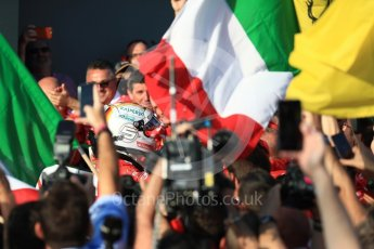 World © Octane Photographic Ltd. Formula 1 - Australian Grand Prix - Podium. Sebastian Vettel - Scuderia Ferrari SF70H. Albert Park Circuit. Sunday 26th March 2017. Digital Ref: 1803LB1D7019