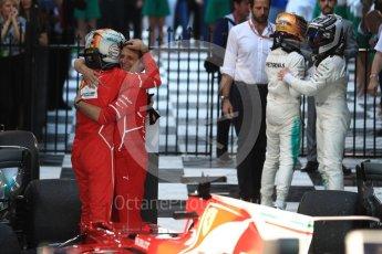 World © Octane Photographic Ltd. Formula 1 - Australian Grand Prix - Podium. Sebastian Vettel - Scuderia Ferrari SF70H. Albert Park Circuit. Sunday 26th March 2017. Digital Ref: 1803LB1D7114