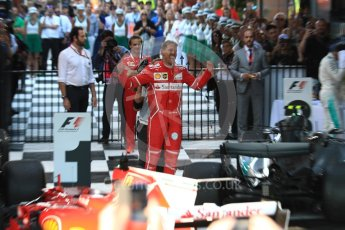 World © Octane Photographic Ltd. Formula 1 - Australian Grand Prix - Podium. Sebastian Vettel - Scuderia Ferrari SF70H. Albert Park Circuit. Sunday 26th March 2017. Digital Ref: 1803LB1D7146