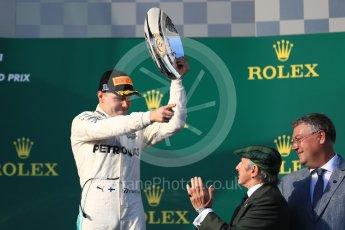 World © Octane Photographic Ltd. Formula 1 - Australian Grand Prix - Podium. Valtteri Bottas - Mercedes AMG Petronas F1 W08 EQ Energy+. Albert Park Circuit. Sunday 26th March 2017. Digital Ref: 1803LB1D7616