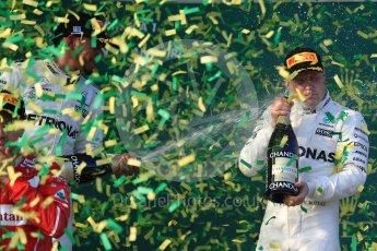 World © Octane Photographic Ltd. Formula 1 - Australian Grand Prix - Podium. Valtteri Bottas - Mercedes AMG Petronas F1 W08 EQ Energy+. Albert Park Circuit. Sunday 26th March 2017. Digital Ref: 1803LB1D7680