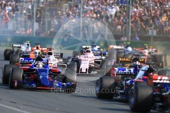 World © Octane Photographic Ltd. Formula 1 - Australian Grand Prix - Race. Sergio Perez - Sahara Force India VJM10. Albert Park Circuit. Sunday 26th March 2017. Digital Ref: 1802LB1D6007