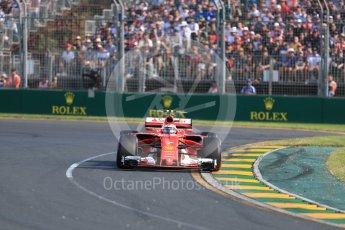World © Octane Photographic Ltd. Formula 1 - Australian Grand Prix - Race. Kimi Raikkonen - Scuderia Ferrari SF70H. Albert Park Circuit. Sunday 26th March 2017. Digital Ref: 1802LB1D6057