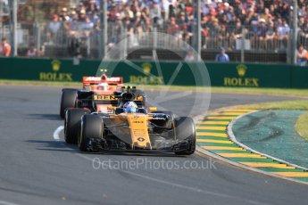 World © Octane Photographic Ltd. Formula 1 - Australian Grand Prix - Race. Jolyon Palmer - Renault Sport F1 Team R.S.17. Albert Park Circuit. Sunday 26th March 2017. Digital Ref: 1802LB1D6121