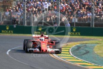 World © Octane Photographic Ltd. Formula 1 - Australian Grand Prix - Race. Sebastian Vettel - Scuderia Ferrari SF70H. Albert Park Circuit. Sunday 26th March 2017. Digital Ref: 1802LB1D6161