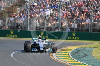 World © Octane Photographic Ltd. Formula 1 - Australian Grand Prix - Race. Valtteri Bottas - Mercedes AMG Petronas F1 W08 EQ Energy+. Albert Park Circuit. Sunday 26th March 2017. Digital Ref: 1802LB1D6172