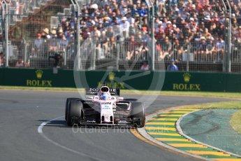 World © Octane Photographic Ltd. Formula 1 - Australian Grand Prix - Race. Sergio Perez - Sahara Force India VJM10. Albert Park Circuit. Sunday 26th March 2017. Digital Ref: 1802LB1D6219