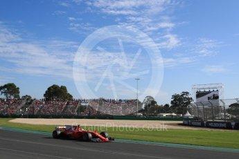 World © Octane Photographic Ltd. Formula 1 - Australian Grand Prix - Race. Sebastian Vettel - Scuderia Ferrari SF70H. Albert Park Circuit. Sunday 26th March 2017. Digital Ref: 1802LB1D6430