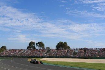 World © Octane Photographic Ltd. Formula 1 - Australian Grand Prix - Race. Romain Grosjean - Haas F1 Team VF-17. Albert Park Circuit. Sunday 26th March 2017. Digital Ref: 1802LB1D6441
