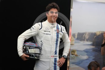 World © Octane Photographic Ltd. Formula 1 - Australian Grand Prix - FIA Driver Photo Call. Lance Stroll - Williams Martini Racing FW40. Albert Park Circuit. Thursday 23rd March 2017. Digital Ref: 1790LB1D9055