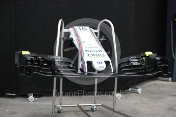 World © Octane Photographic Ltd. Formula 1 - Australian Grand Prix - Wednesday Setup. Williams Martini Racing FW40. Albert Park Circuit. Wednesday 22nd March 2017. Digital Ref: 1788LB1D7710