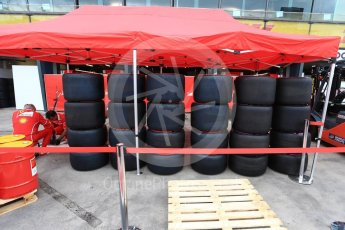 World © Octane Photographic Ltd. Formula 1 - Australian Grand Prix - Wednesday Setup. Tyres at Ferrari. Albert Park Circuit. Wednesday 22nd March 2017. Digital Ref: 1788LB2D3947