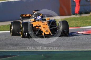 World © Octane Photographic Ltd. Formula 1 - Winter Test 2. Jolyon Palmer - Renault Sport F1 Team R.S.17. Circuit de Barcelona-Catalunya. Tuesday 7th March 2017. Digital Ref :1784CB1D0347